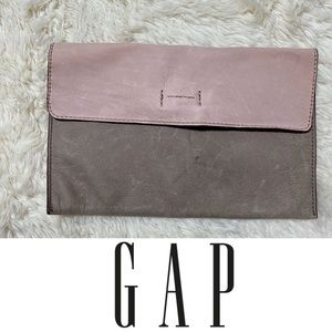NWT GAP | Color block leather envelope pouch